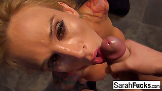 Prisoner Sarah gets fucked in jail POV style