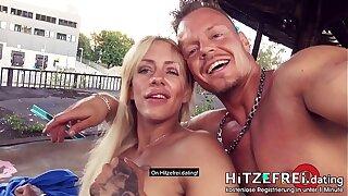 PUBLIC SCENE! Crazy tattooed ◆FitXXXSandy◆ fucked in pierced cunt! HITZEFREI.dating