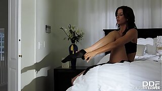 Busty lovers American milf Alexis Fawx rides a monster cock reverse cowgirl