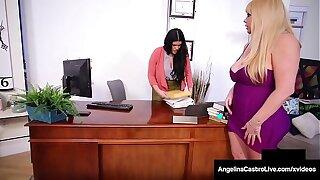 Lustful Lawyer Angelina Castro StrapOn Fucks Karen Fisher!