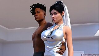 Hot white bride and BBC interracial