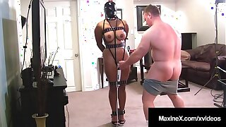 Busty Asian Mommy Maxine X Bound & Fucked From Behind!
