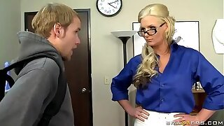 Blonde teacher like a anal sex