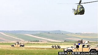 Brazzers - Big Wet Butts -  Military Booty scene starring Devon Lee and James Deen