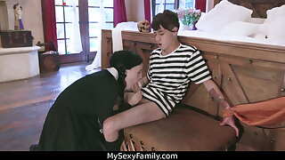 Adams Family parody orgy