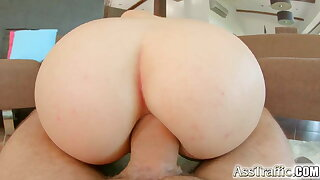 Ass Traffic Teen with big tits gets her ass fucked