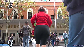 SPANISH HUNGRY MATURE ASS IN SPANDEX