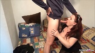 Ugly German Mature Street Hooker Fuck for Cash by Young Guy
