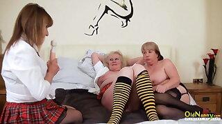 OldNannY British Mature Ladies Get Pussy Treatment