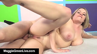 Curvy Cunt Fucked Maggie Green Gets Her Plump Pussy Pounded!