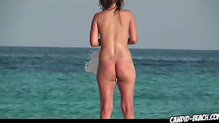 Mix of hot Naked Nudist Milfs Spied On At The Beach with Hidden Cam