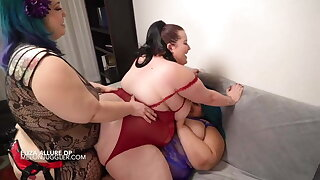 SSBBW Eliza Allure all girl double penetration