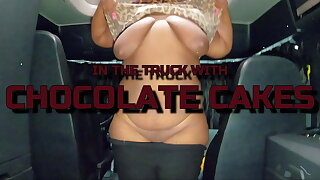 IN THE TRUCK WITH CHOCOLATE CAKES