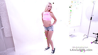Hot russian Blonde gets assfucked at casting audition POV