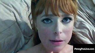 Ginger Bush Horn Dog Penny Pax Face Fucked In Toilet Room!