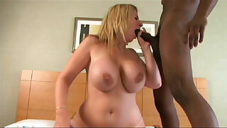 Hot Young MILF rides Big Black Delivery Guys' big cocks BBC