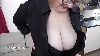 Mature Sally big tits and cock play