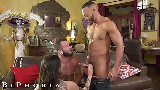 BiPhoria, Lucky Delivery Guy Seduced By Horny Married Couple